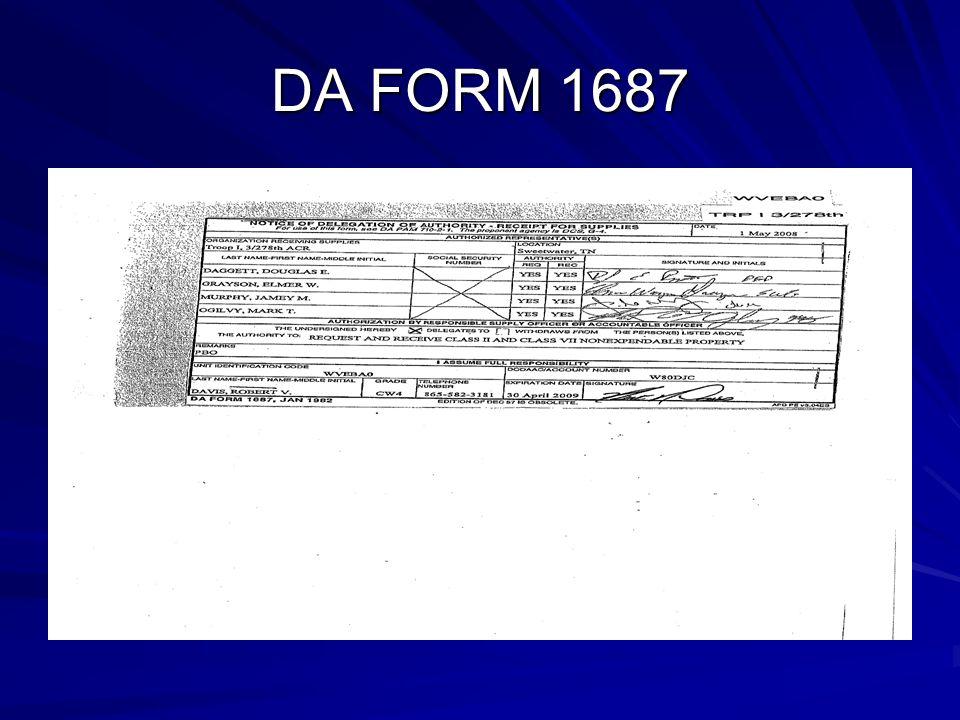 DA FORM 1687