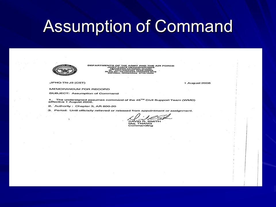 Assumption of Command