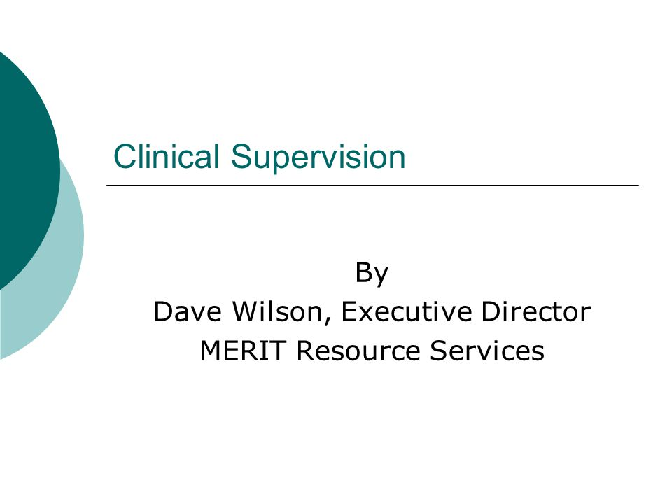 Rules and Regulations, cont…  Supervisors must decrease their own face to face contact hours by 20% for each CDPT  Supervisors are responsible for all patients assigned to their CDPT (s)  CDP's must review and authenticate all clinical documentation of CDPT's