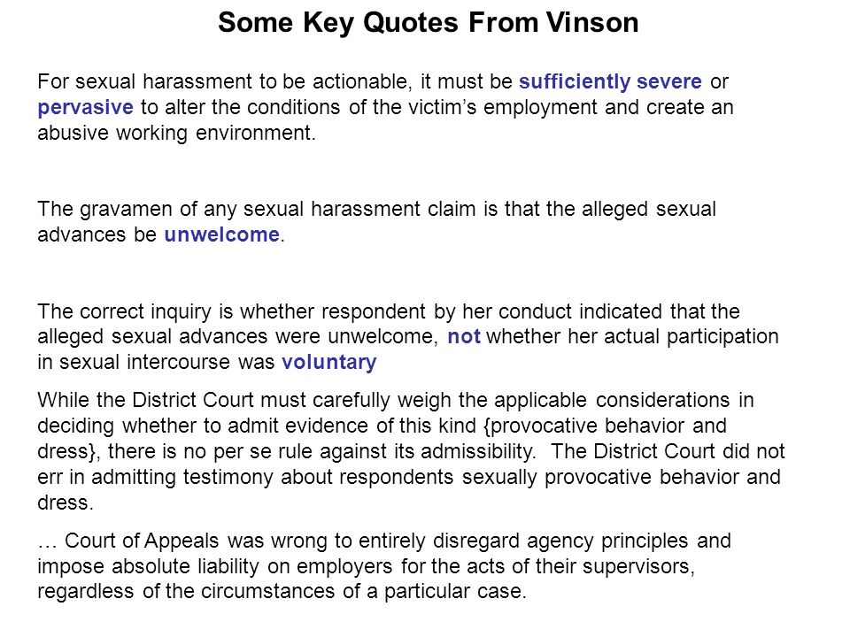 For sexual harassment to be actionable, it must be sufficiently severe or pervasive to alter the conditions of the victim's employment and create an a