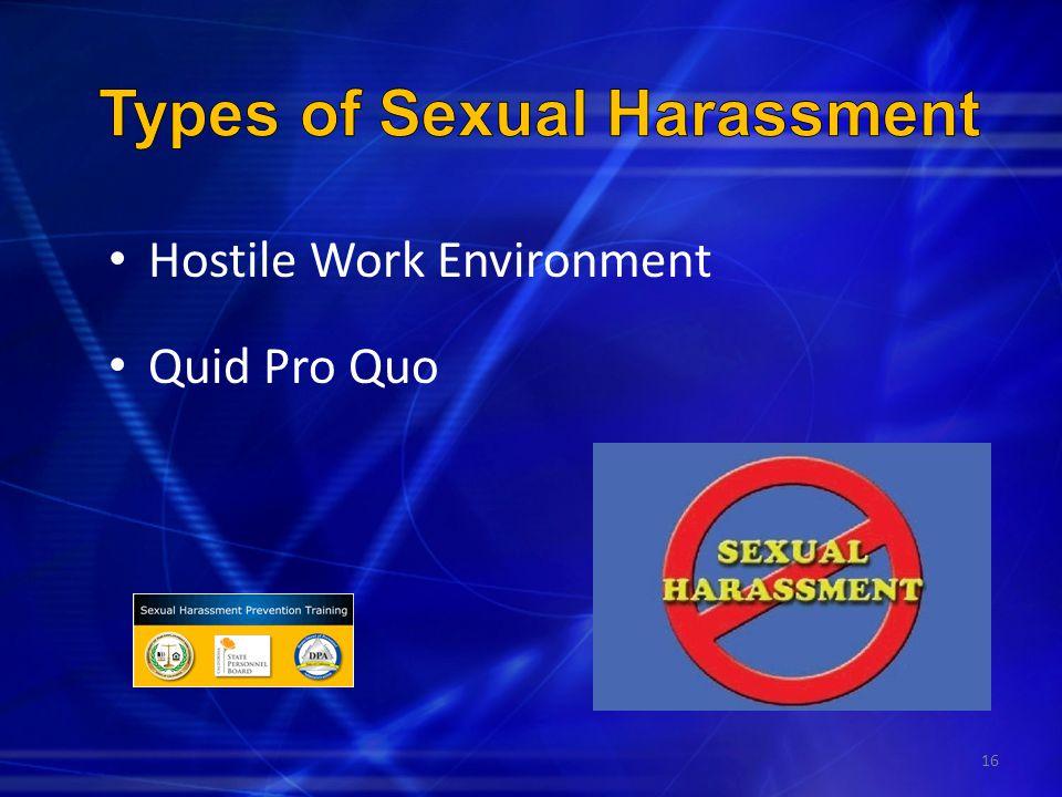 Hostile Work Environment Quid Pro Quo 16