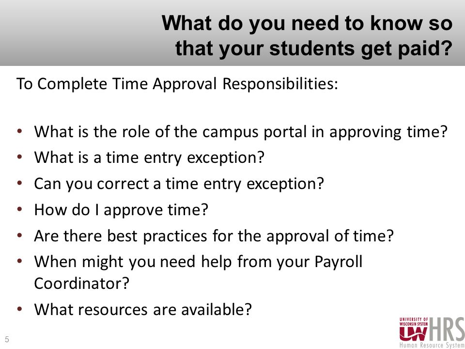 What do you need to know so that your students get paid.