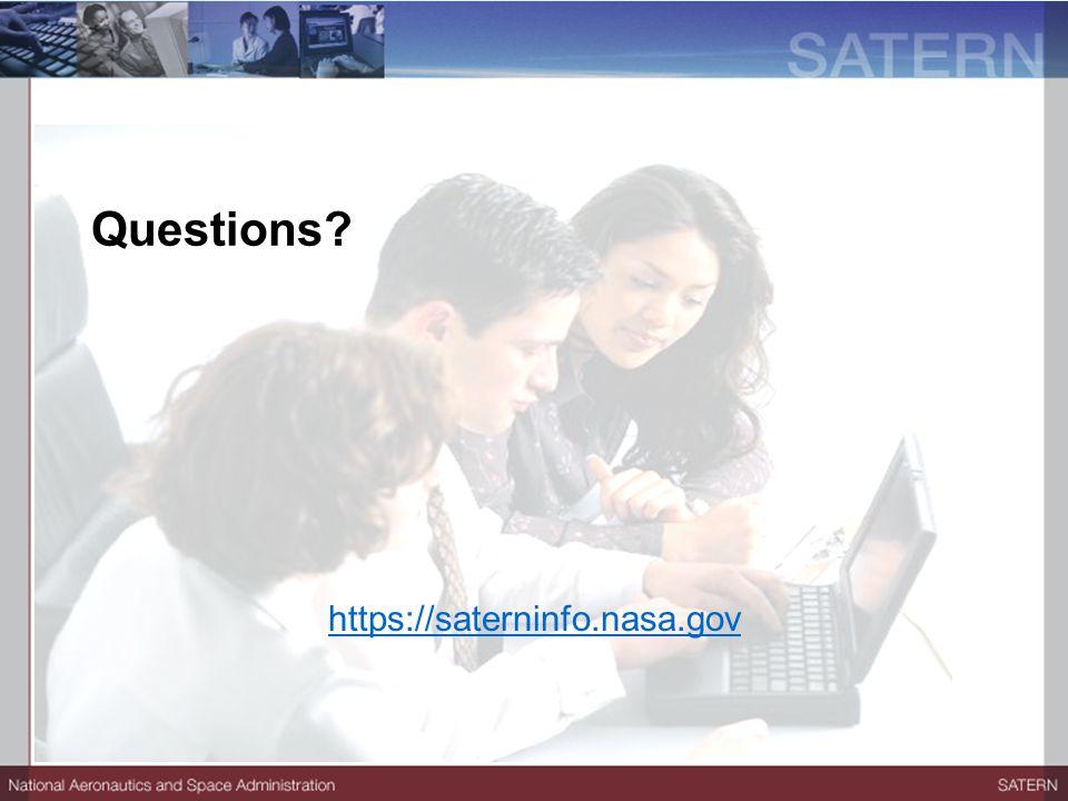 Questions? https://saterninfo.nasa.gov