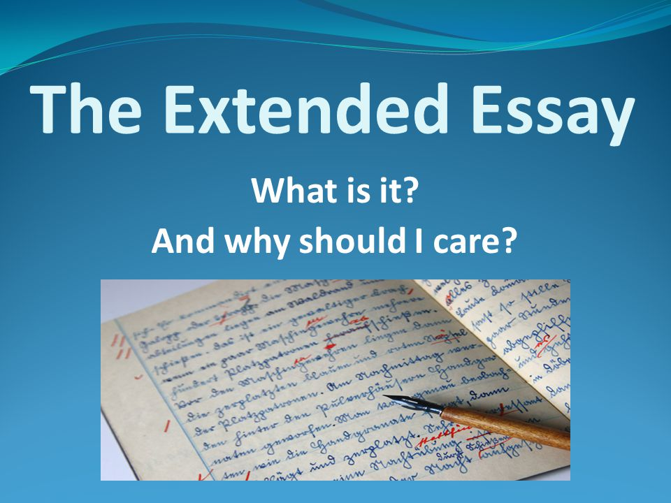 The Extended Essay is a requirement of the diploma program.