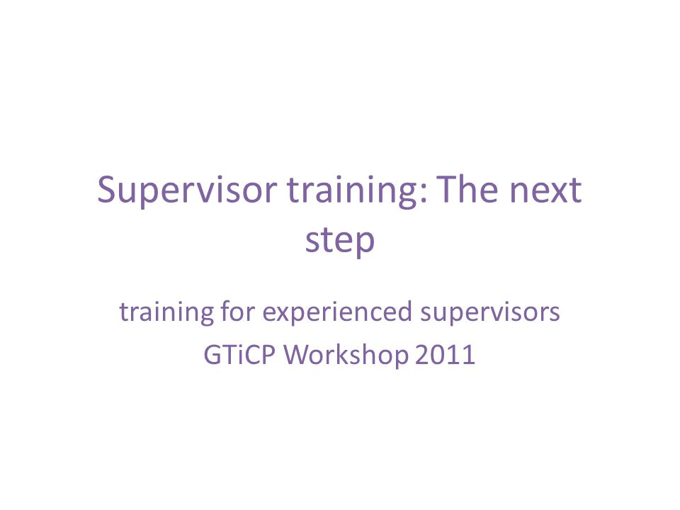 Current topics include: Leadership, consultation, teamwork Group supervision New ways of working Resilience Systemic supervision Feedback Reflective practice SR and managing challenges Supervision of supervision