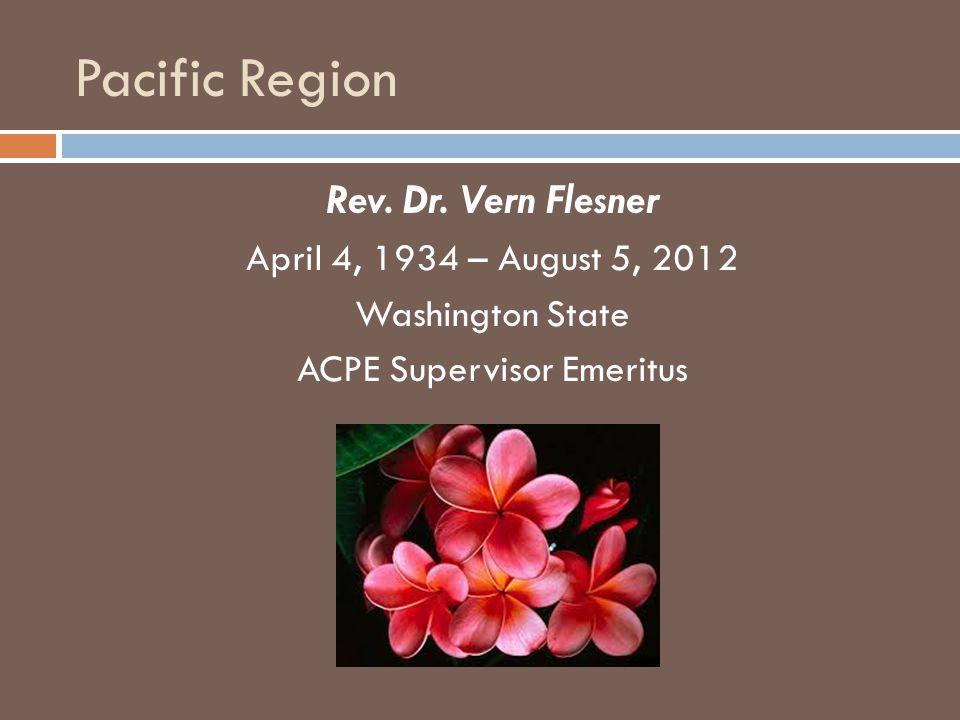 Pacific Region Rev. Dr.