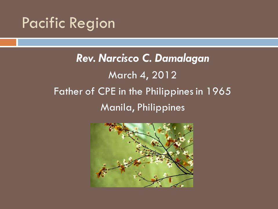 Pacific Region Rev. Narcisco C.