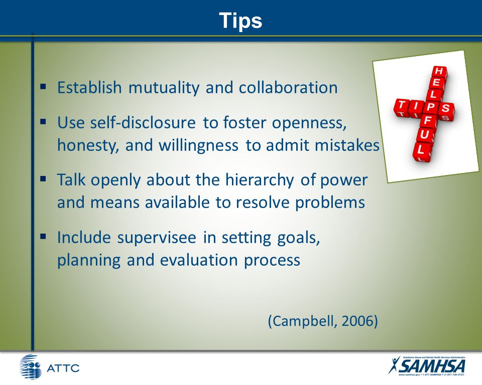 Scenario 4: Conflict Imagine yourself in supervisory relationship where: – Supervisor believes in empowering clients to take responsibility for their own recovery – Supervisee believes in providing guidance to help the client avoid making mistakes which will interfere with their recovery Participant Workbook – p.