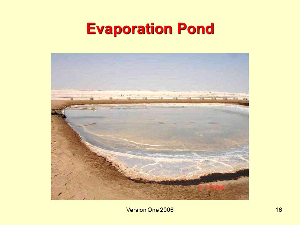 Version One 200616 Evaporation Pond