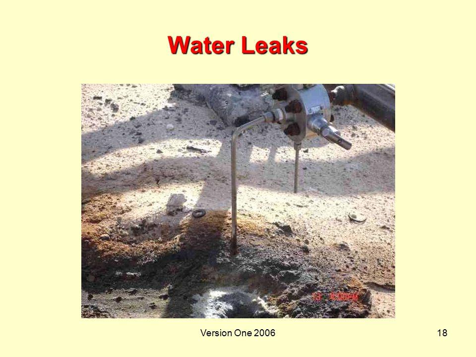 Version One 200618 Water Leaks
