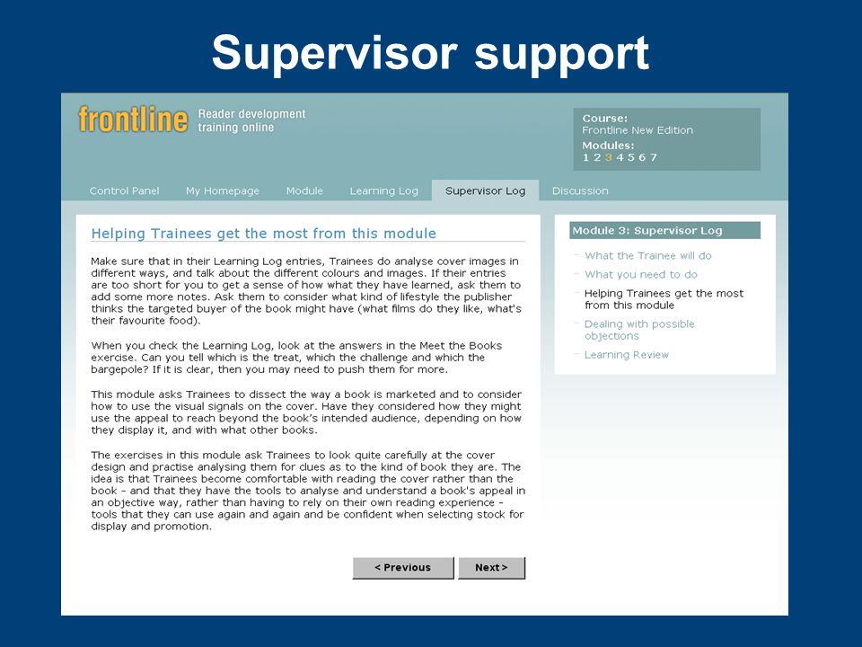 Supervisor support