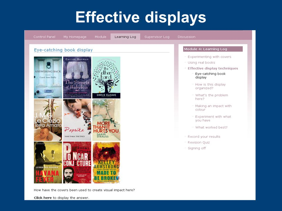 Effective displays