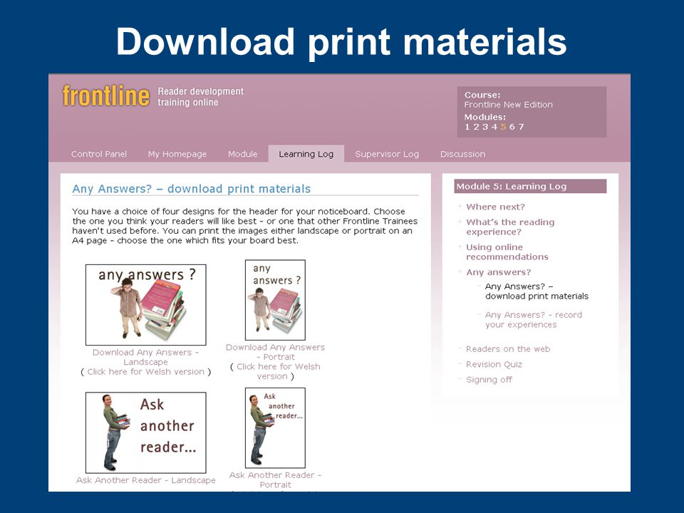 Download print materials