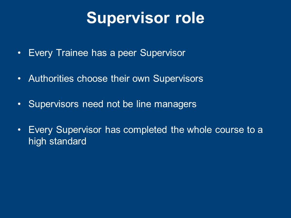 Supervisor Log responds to Learning Log