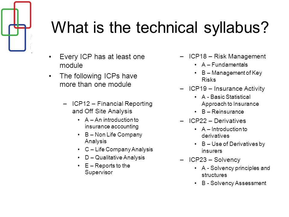 What is the technical syllabus.