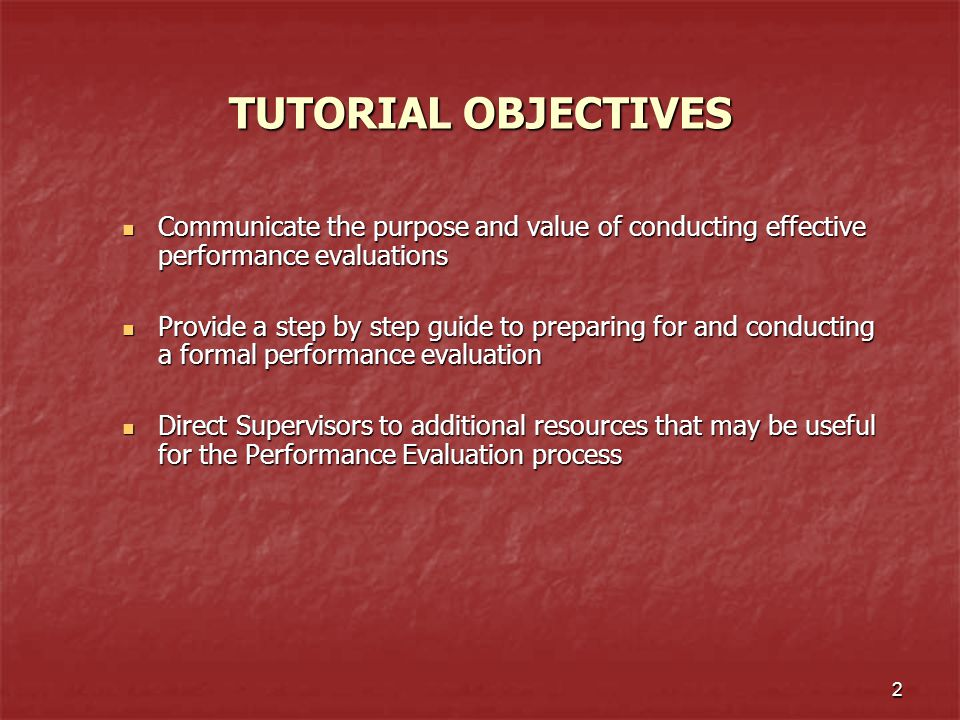 3 WHAT IS THE PURPOSE OF CONDUCTING ANNUAL PERFORMANCE EVALUATIONS.