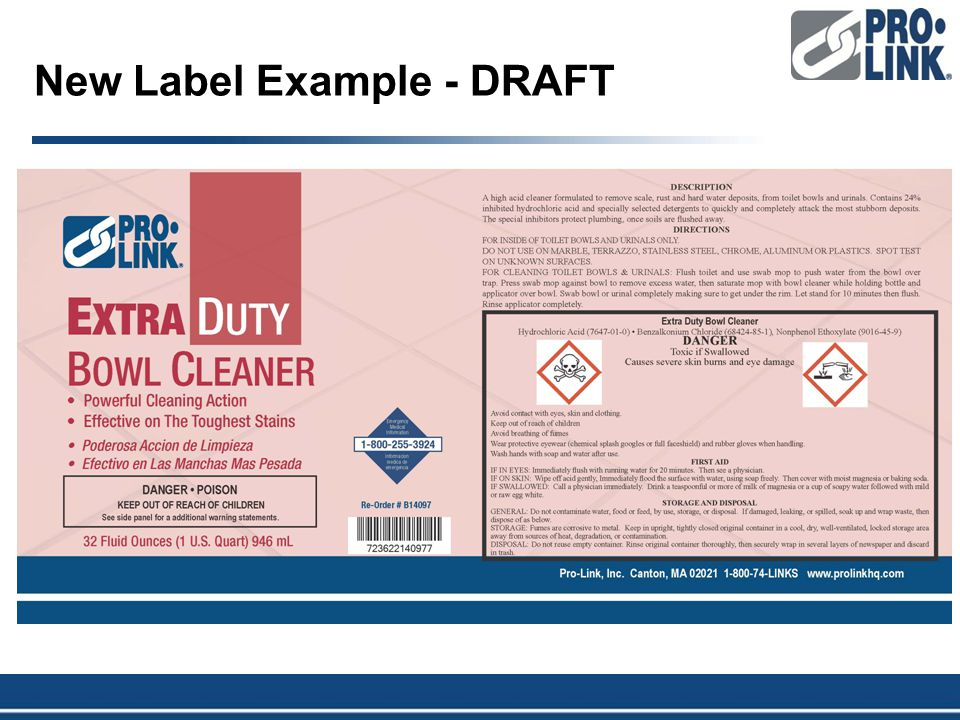New Label Example - DRAFT