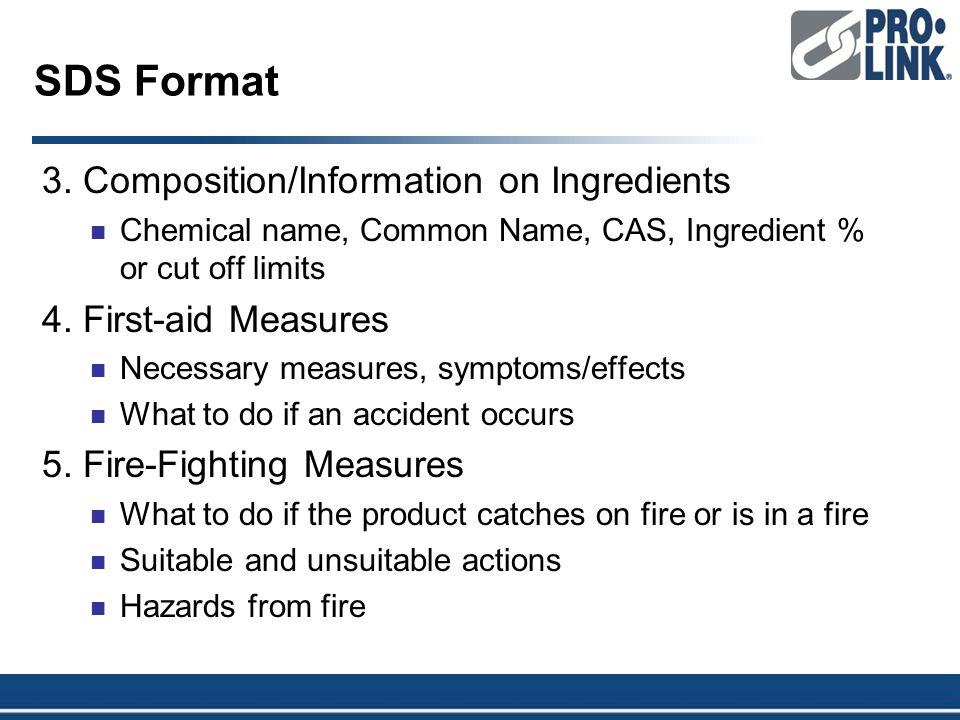 SDS Format 3.