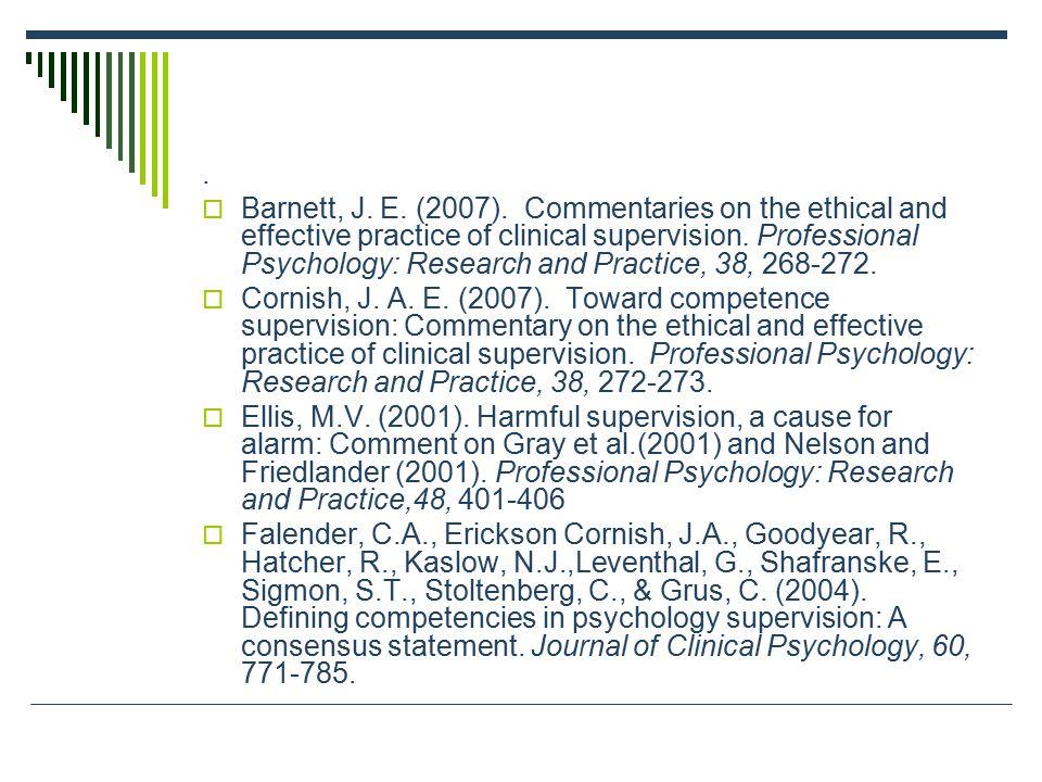  Barnett, J. E. (2007).