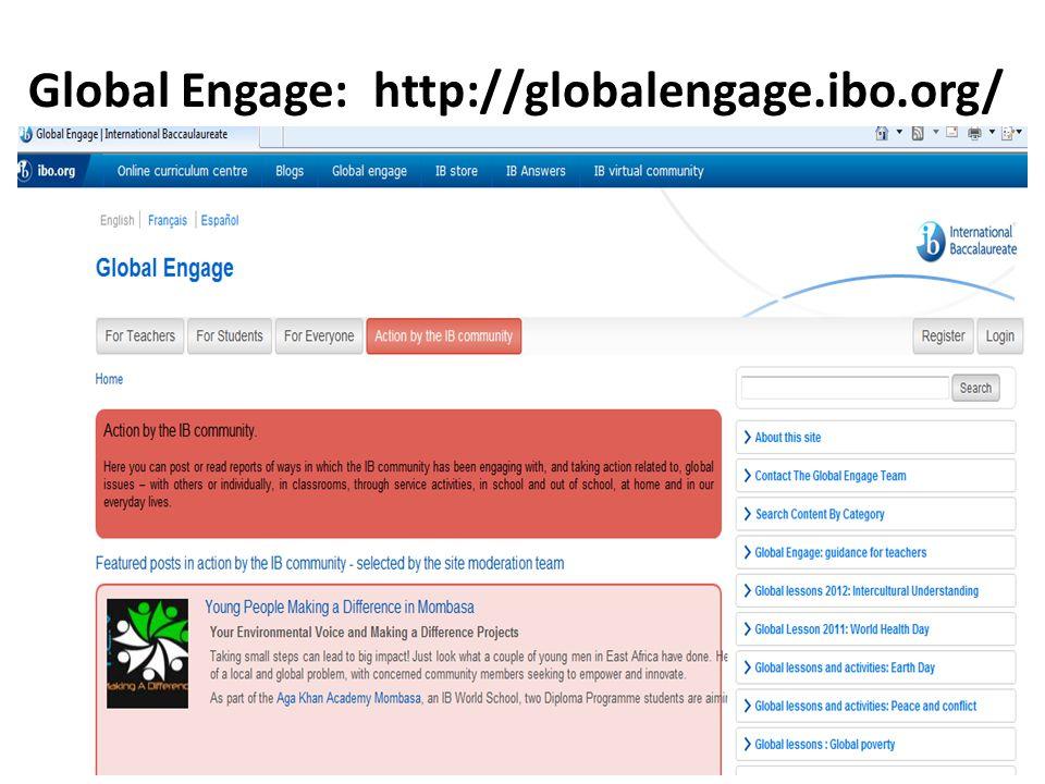 Global Engage: http://globalengage.ibo.org/