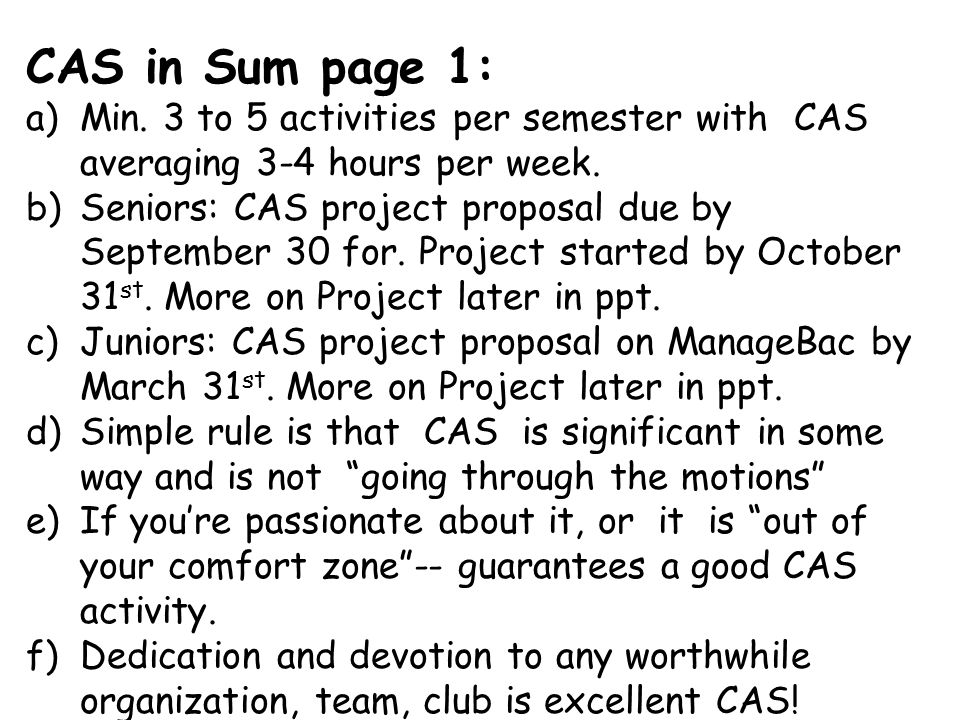 Schedules with your name are excellent CAS evidence– upload to Reflections Tab ; Answer CAS questions—then request supervisor review!