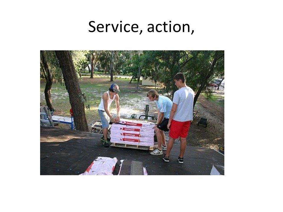Service, action,