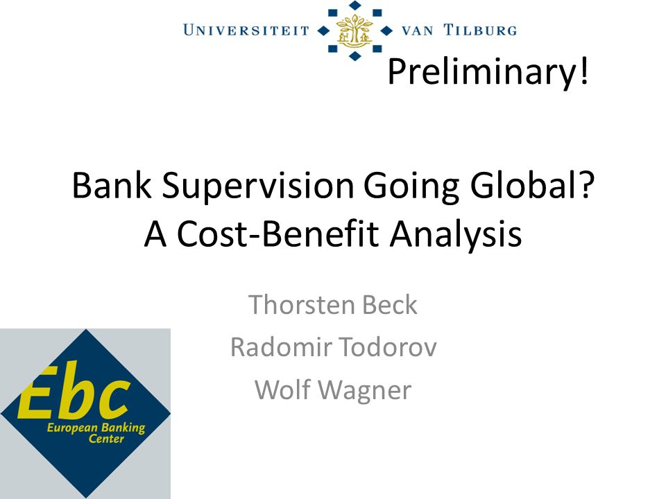 Bank Supervision Going Global.