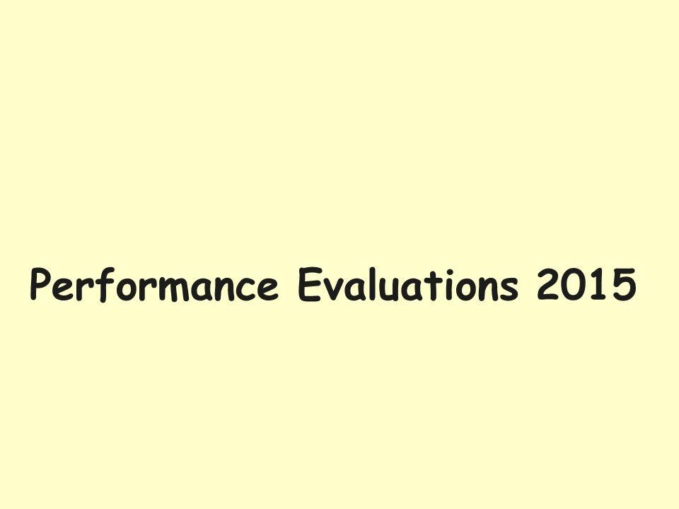 Performance Evaluations 2015