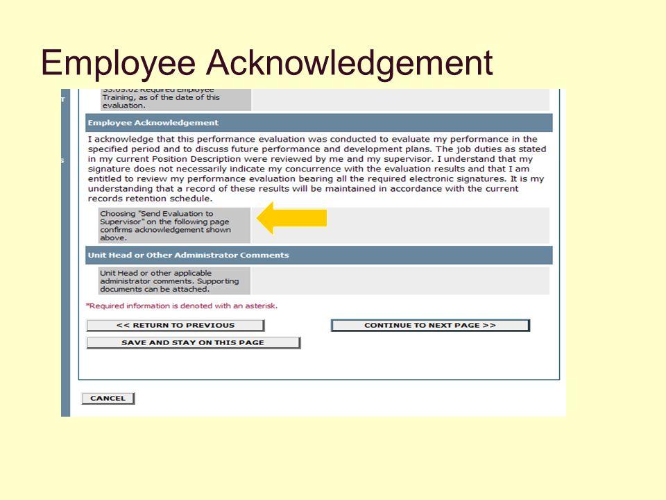 Employee Acknowledgement