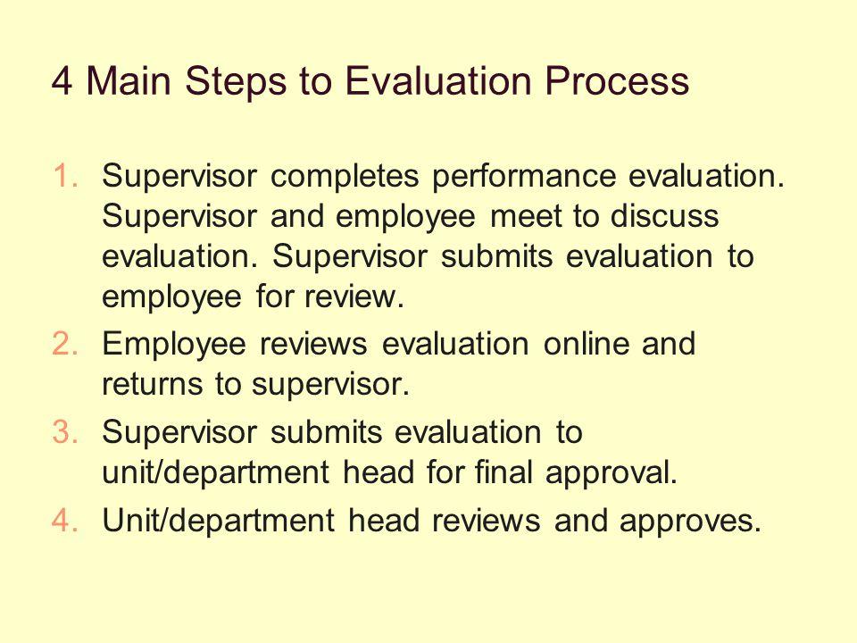 Supervisor Begins Evaluation