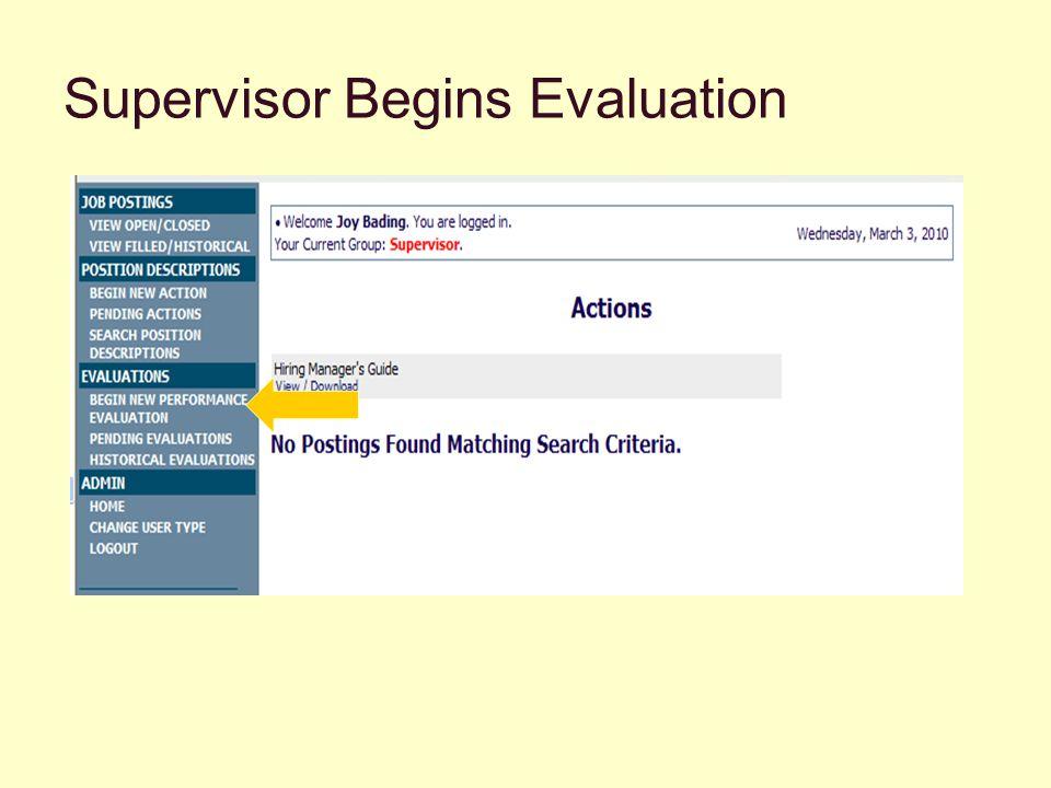 Supervisor Chooses Online Evaluation or Uploads Form (Storage Option)