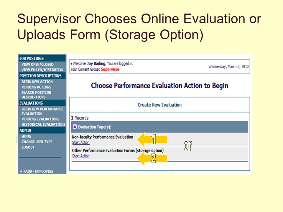 Supervisor Completes Online, Competency- based evaluation (i.e.: non-faculty)