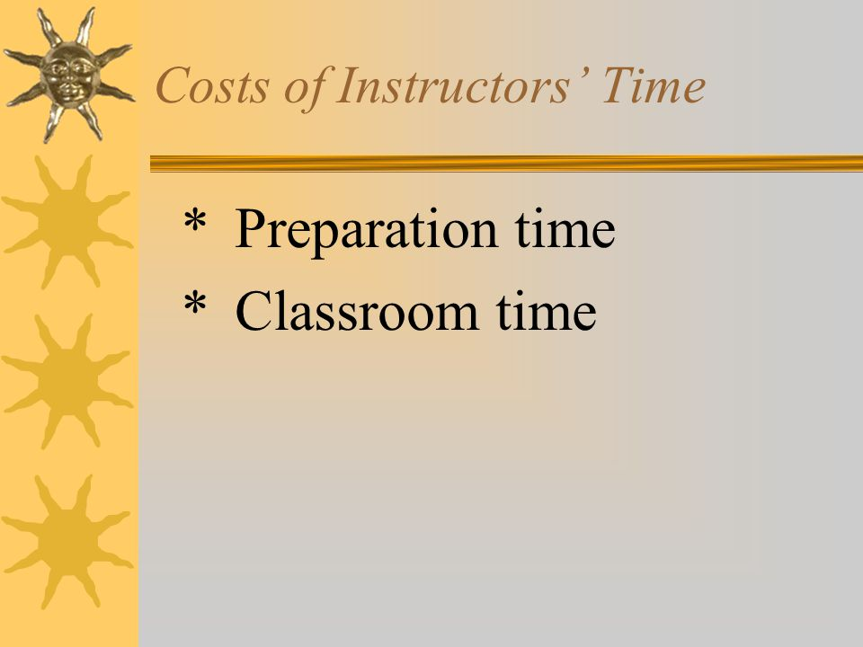 Costs of Supervisors' Time - $1,296,000  600 supervisors  18 hours training per supervisor  Average supervisor costing rate is $120/hour  600 x 18