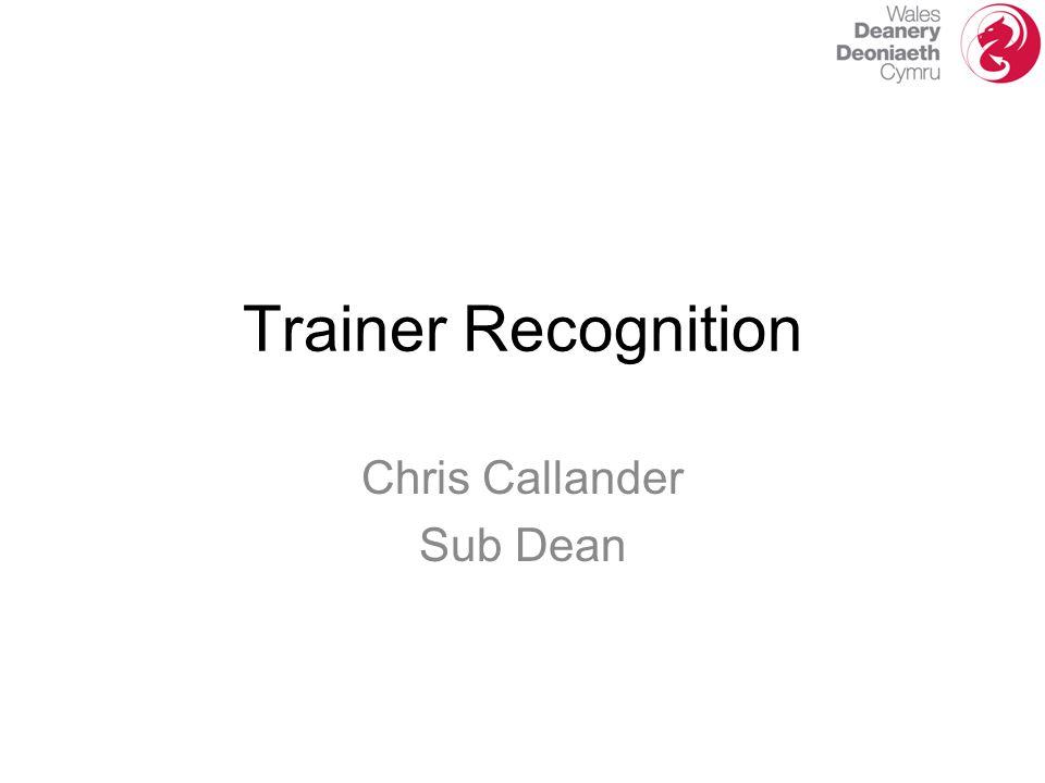 Chris Callander Sub Dean Trainer Recognition