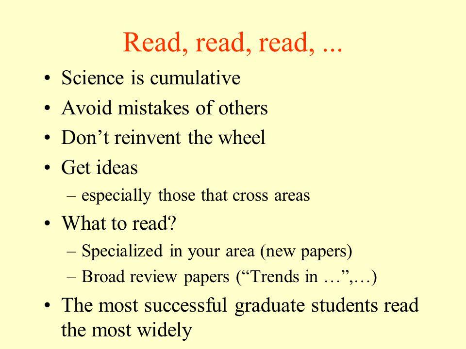 Read, read, read,...