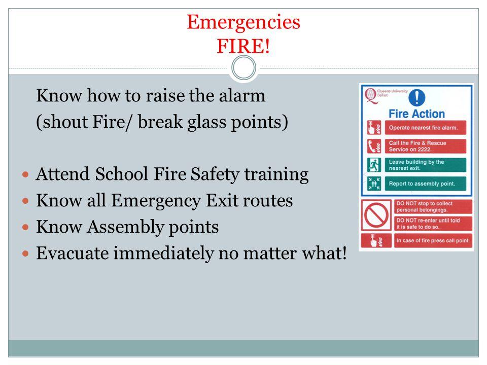 Emergencies FIRE.