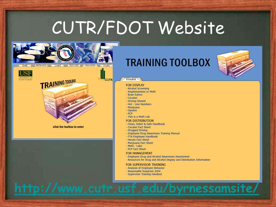 CUTR/FDOT Website http://www.cutr.usf.edu/byrnessamsite/