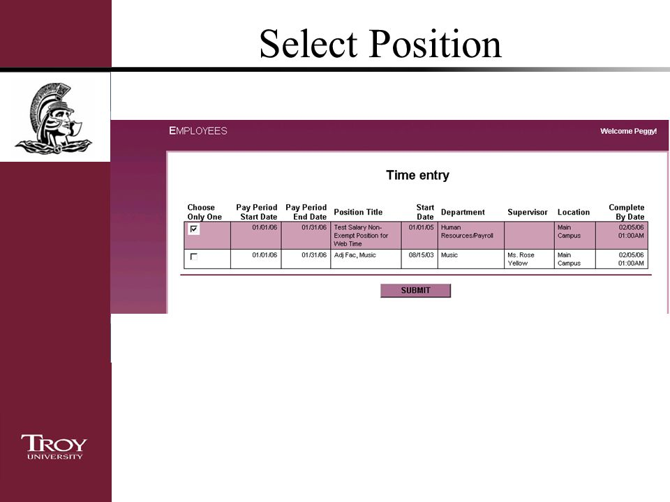 Select Position