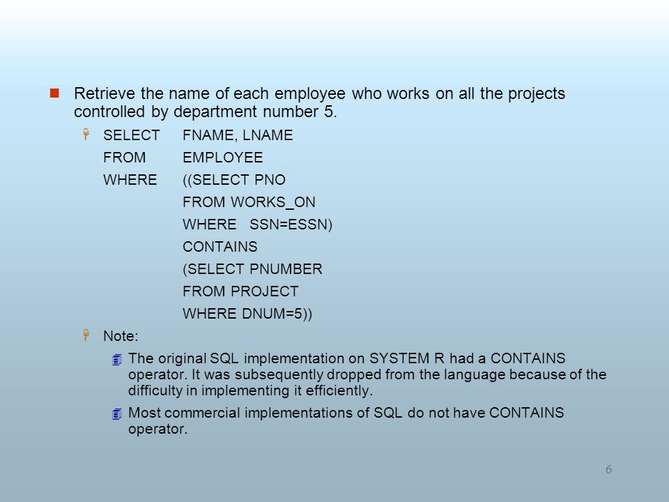 7 Retrieve the names of employees who have no dependents.