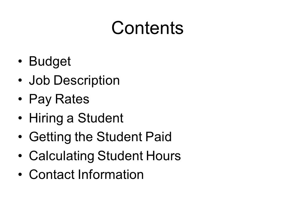 Calculating Student Hours Multiple Jobs-students can hold more than one position on campus –Students may not work more than 20 (or 40) hours per week.