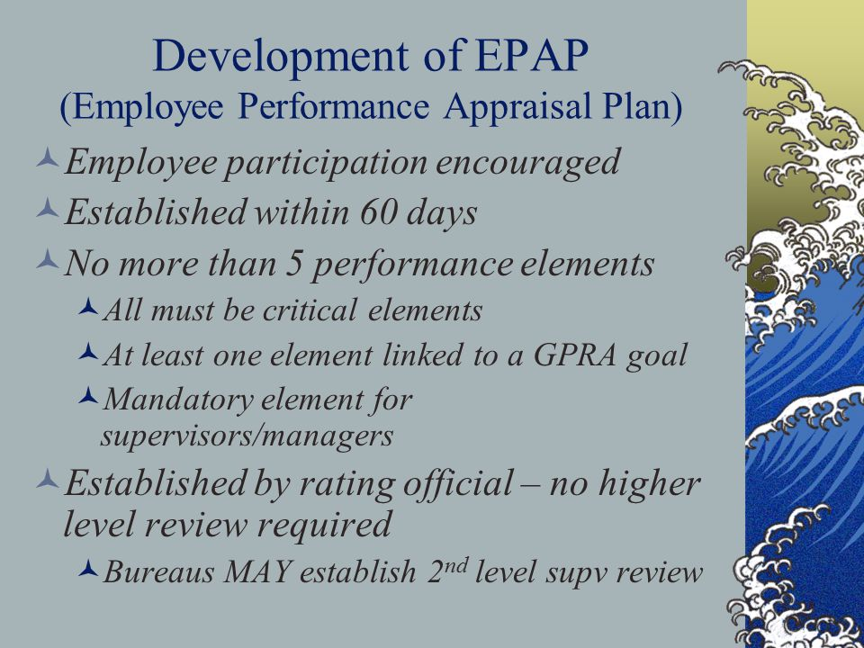 Level 5 Standard - Refer to benchmark and in addition: Employee sets the standard for excellence in delivering formal interpretive programs.