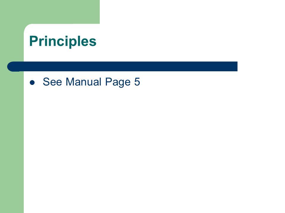 Principles See Manual Page 5