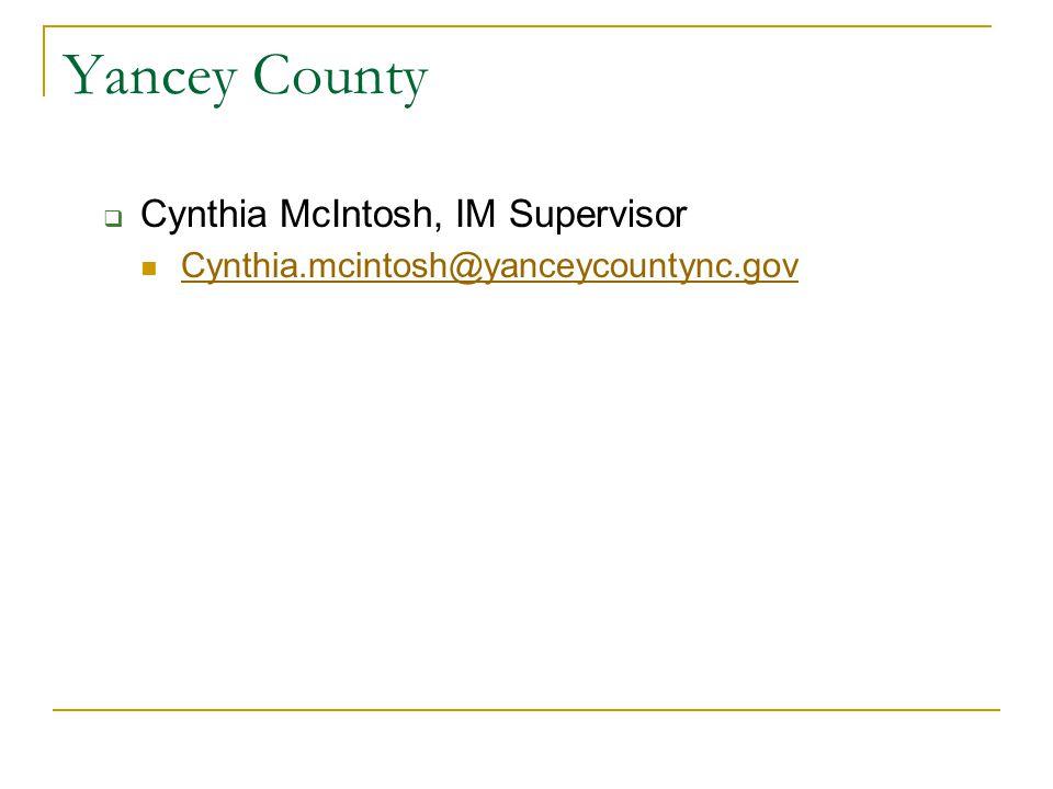 Bladen County  Patricia Smith, IM Program Administrator psmith@bladenco.org