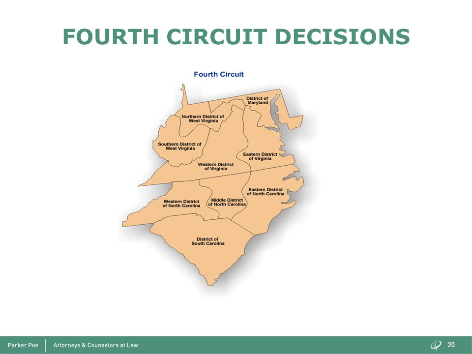 FOURTH CIRCUIT DECISIONS 20