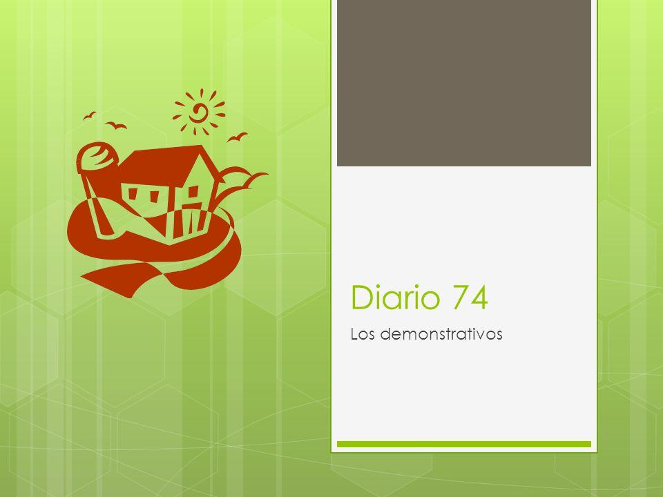 Diario 74 Los demonstrativos