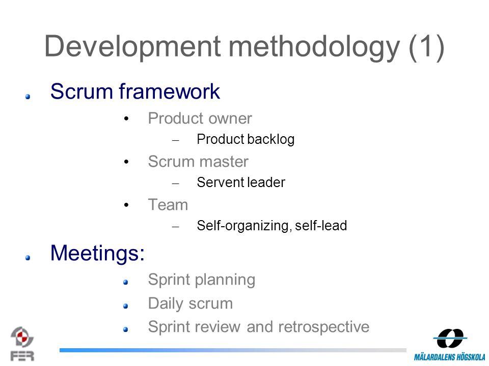 Development methodology (2)