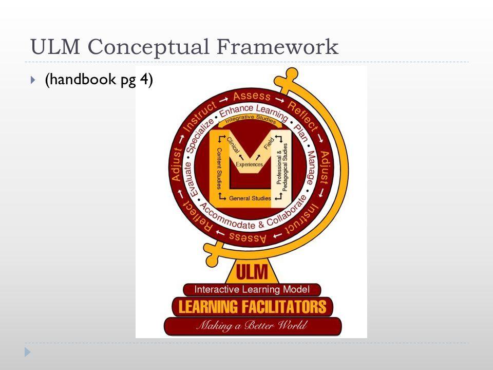 ULM Conceptual Framework  (handbook pg 4)