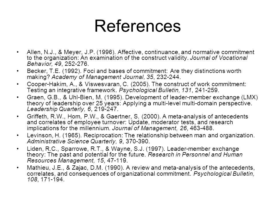 References Allen, N.J., & Meyer, J.P. (1996).