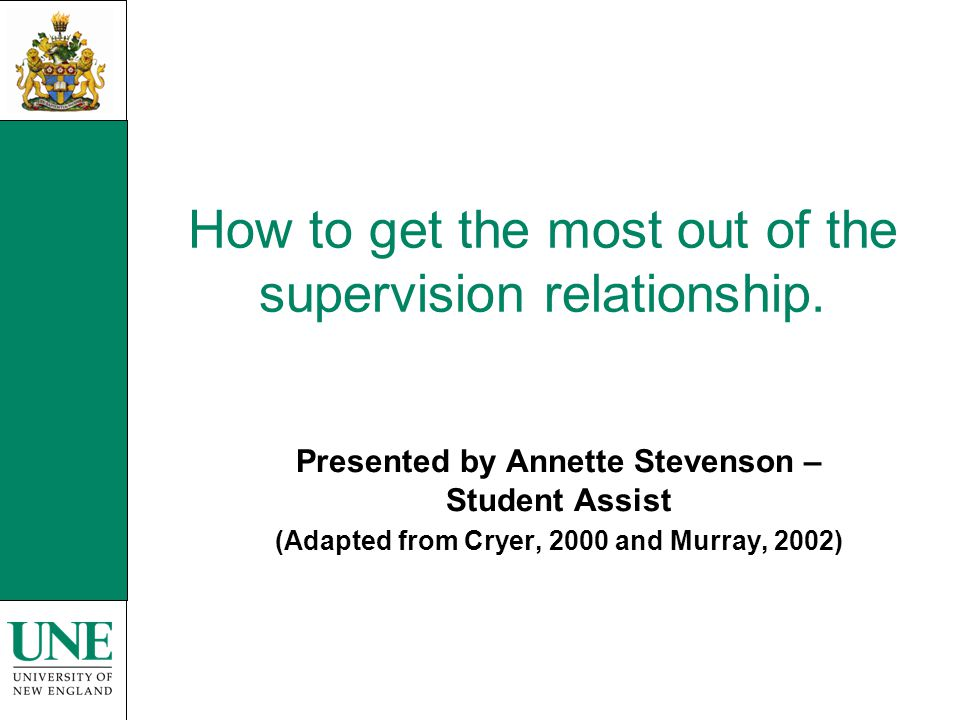 Roles of the supervisor (Brown and Atkins, 1990, p.