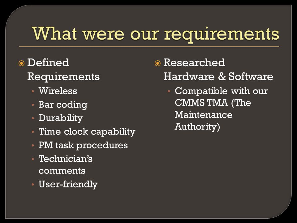  Purchase Hardware & Support Equipment